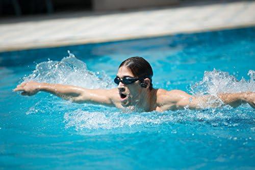 ARGOS Sunstech Reproductor MP3 4GB Sumergible Impermeable IPX8 Diseñado para el Deporte y la natación Batería Recargable 200mAh. Almohadillas terrestres y acuáticas Incluidas. Negro - Azul.