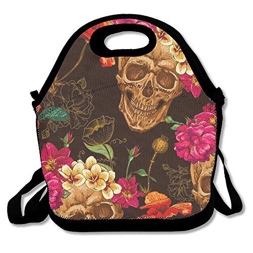 Mipu Shangmao Rose Skull Lunch Bag Insulation Picnic Bag Insulated Zipper Cooler Bag