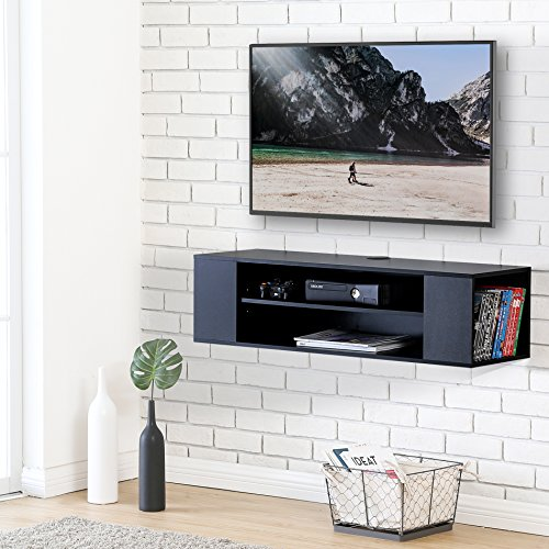 d Audio/Video Black wood grain for xbox one/PS4/vizio/Sumsung/sony TV DS210002WB (Wall Mounted Audio)