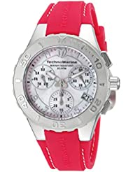 Technomarine Womens Cruise Quartz Stainless Steel and Silicone Casual Watch, Color:Pink (Model: TM-115085)