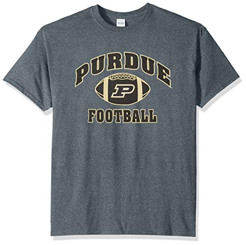 Elite Fan Shop NCAA Men's Purdue Boilermakers Football T-shirt Dark Heather Purdue Boilermakers Dark Heather X Large