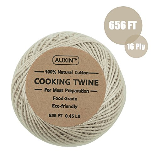 AUXIN,Natural Cooking Twine [656ft][0.45lb][16ply],Durables Butchers Twine,Meat preparation,Food Packaging String,DIY Craft Decoration,Kitchen Accessories by AUXIN