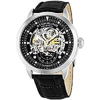 Men's 133.33151 Executive Automatic Skeleton Black Genuine Leather Strap Watch