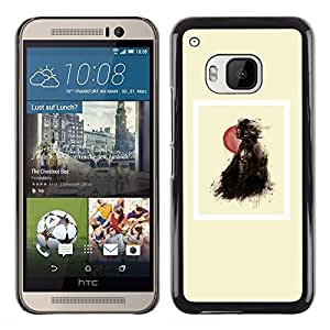 Exotic-Star ( Balloon Black Girl Poster Minimalist ) Fundas Cover Cubre Hard Case Cover para HTC One M9