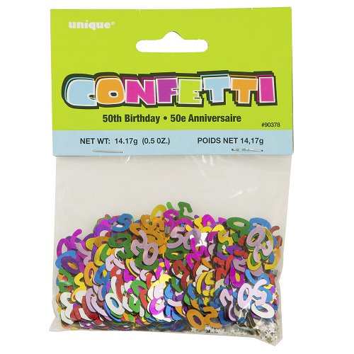 Foil 50th birthday confetti buy online in uae kitchen for 50th birthday decoration packs