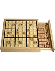 Andux Sudoku Wooden Puzzle Board Game with Drawer SD-02 (Black)