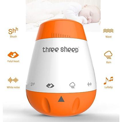 FTOFLY Baby Sleep Máquina de sonido Máquina de ruido con 6 calmantes Suavizante para bebés