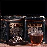 Qianmao, 1995 [Qianmao Teahouse], Pu'er Tea, Pu'er Ripe Tea [24 old tea] golden teeth, rich Chen fragrance, tea soup bright, mellow and lubricating taste, 12.6 ounces,giving tea spoon