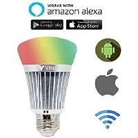 VINC WiFi Enabled Smart LED Bulb E27 9-Watt (16 Million Colors + Warm White/Neutral White/White) (Compatible with Amazon Alexa and Google Assistant)