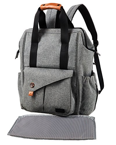 Diaper Bag Backpack with Changing Pad/Insulated Bottle Pocke