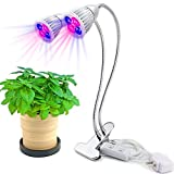 Mystery Plant Lights, Dual Head Growing Lights, 60W Full Spectrum 360° Goosenecks LED Grow Lamp for Indoor Plants, Hydroponic, Garden(40 LED)