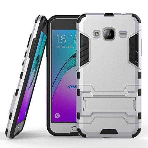 Funda para Samsung Galaxy J3 / J3 2016 (5 Pulgadas), Híbrida Rugged Armor Case Choque Absorción Protección Dual Layer...