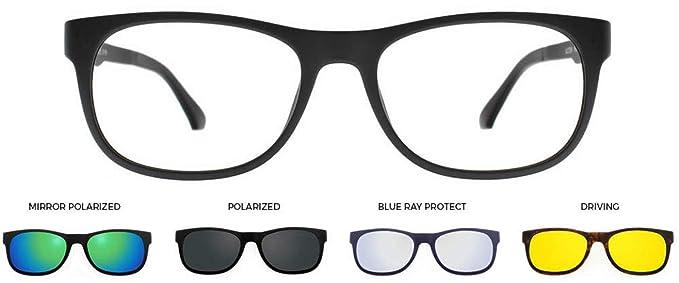 U-0200 Montura para gafas de vista/sol - Equipado con 4 Clip ...