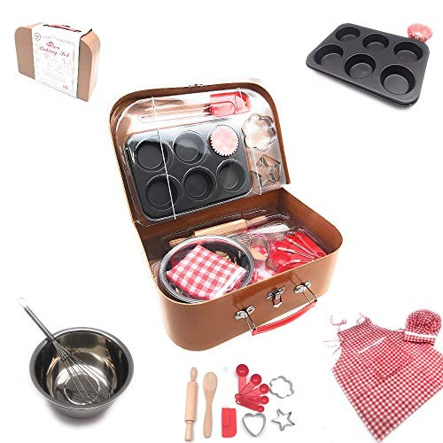 Oojami Pretend Toy Kitchen Baking Play Set with a Carrying case - Play Kitchen Accessories