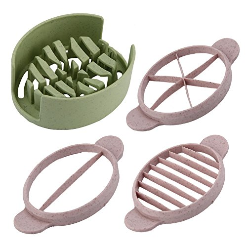 SuperStores 2017 Creative Multifunction Wheat Straw Cut Egg Slicers Tool Dividers Preserved Egg Splitter Cut Eggs Cooking Tools Kitchen Use (green)