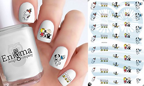 Peanuts New Years Accessories (Clear Water-Slide Nail