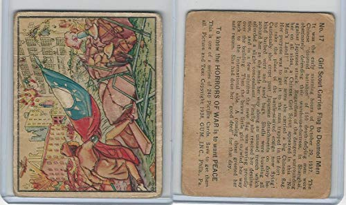 R69 Gum Inc, Horrors of War, 1938, 17 Girl Scout Carries Flag, China