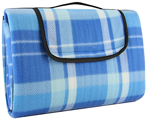 Crotali Waterproof Picnic Blanket Anti-Slip-Layers Portable Light-Weight and Perfect for Camping , Beach , Concerts and Travel by Crotali
