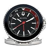 Bulova Diver Travel Clock, Silver