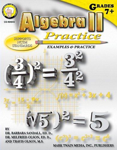 Algebra II Practice Book, Grades 7 - 8