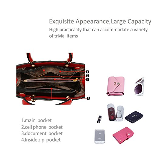 nuevas NICOLE monedero bolsos del mensajero del bolso las de mujeres bolso moda Rose white amp;DORIS Schulterbeutel mujeres del CCpZr5q