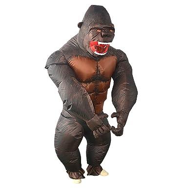 LOVIVER - Mono inflable de gorila para disfraz de Halloween ...