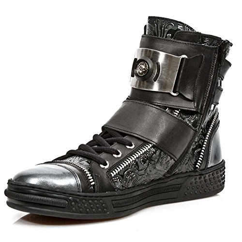 Boots s1 ps028 Herren M Black Biker New Schwarz Rock SvqwYx