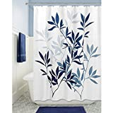 Blue Curtains InterDesign Leaves Soft Fabric Shower Curtain, 72