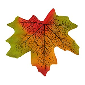 FYYDNZA 100Pc Artidicial Silk Cloth Maple Leaves Multicolor Autumn Fall Leaf For Art Scrapbooking Wedding Bedroom Wall Party Decor Craft,A5 22