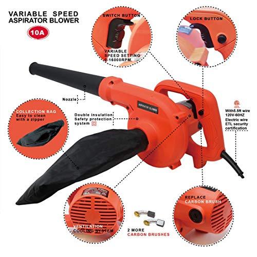 FUT 6 Speed 1200W 10A Corded Electric Leaf Blower