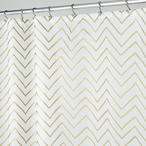 mDesign Decorative Metallic Chevron Print Water Repellent, F