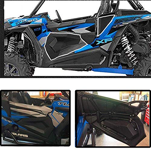 ISSYZONE UTV Mud Flaps for RZR-S 900 Front and Rear RZR-S 1000 Full Set 2015-2017 1 Set RZR 4 900 Fender Flares Extender