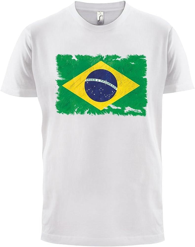 Dressdown Brasil Grunge Estilo Bandera - Camiseta Hombre - 13 Colores: Amazon.es: Ropa y accesorios