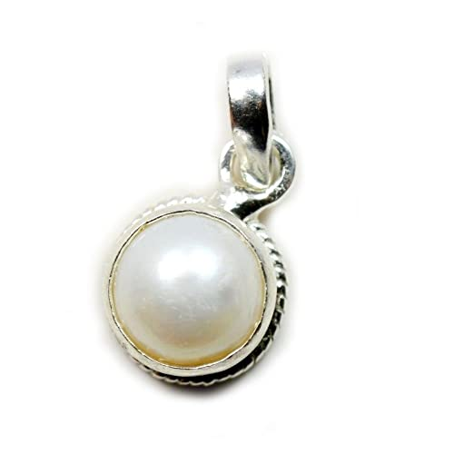 Buy Certified Natural 8 25 Ratti Pearl Silver Pendant Pearl