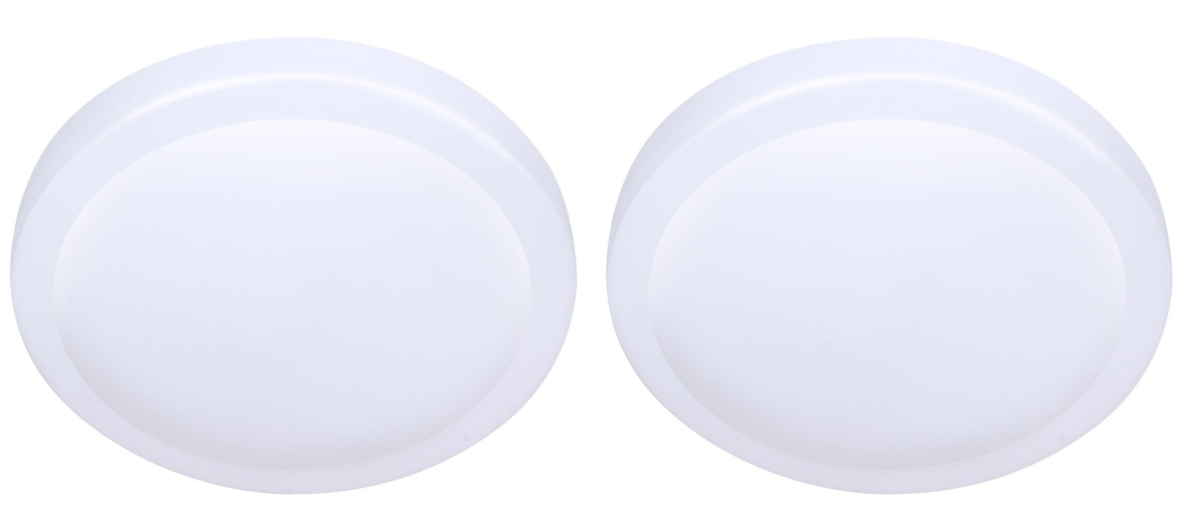 LIT-PaTH 7 Inch LED Flush Mount Ceiling Lighting Fixture, 11W (75W Equivalent), Dimmable, 800 Lumen, Damp Location Rated, ETL and ES Qualified, 2-Pack