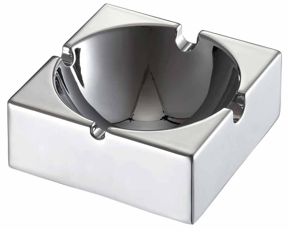 Visol Appeal Square Stainless Steel Ashtray VASH206