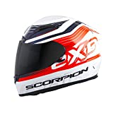 Scorpion EXO EXO-R2000 White/Orange Fortis Full Face Helmet, XL