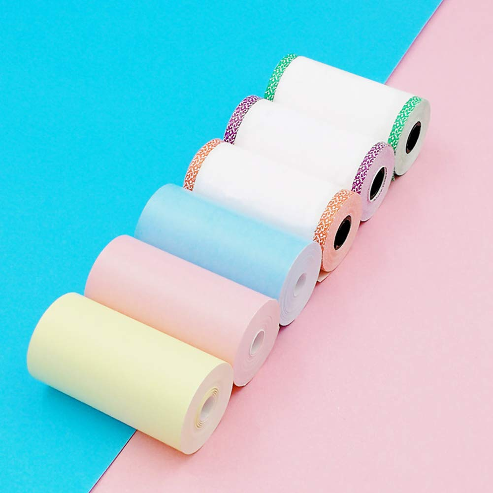 opOpb213IL Glossy Printable Sticker Photo Paper Transparent Direct Thermal Paper,57x30mm Adhesive Thermal Label Sticker Photo Printing Paper for Paperang P1 Blue