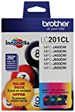 Office Products : Brother Genuine Standard Yield Color Ink Cartridges, LC2013PKS, Replacement Color Ink Three Pack, Includes 1 Cartridge Each of Cyan, Magenta & Yellow, Page Yield Up To 260 Pages/cartridge, LC203
