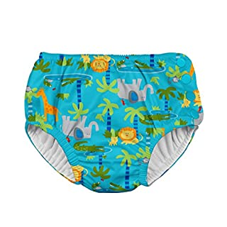 i play. by green sprouts Boys' Snap Reusable Absorbent Swimsuit Diaper, Aqua Jungle, 18 Months (B018784GRE)   Amazon price tracker / tracking, Amazon price history charts, Amazon price watches, Amazon price drop alerts