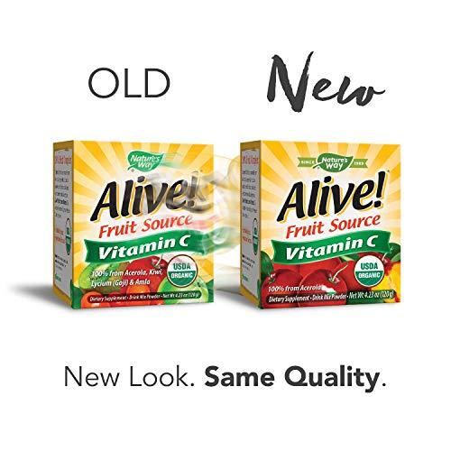 Natures Way Alive! Natural Vitamin C Powder - 120g: Amazon.es: Salud y cuidado personal