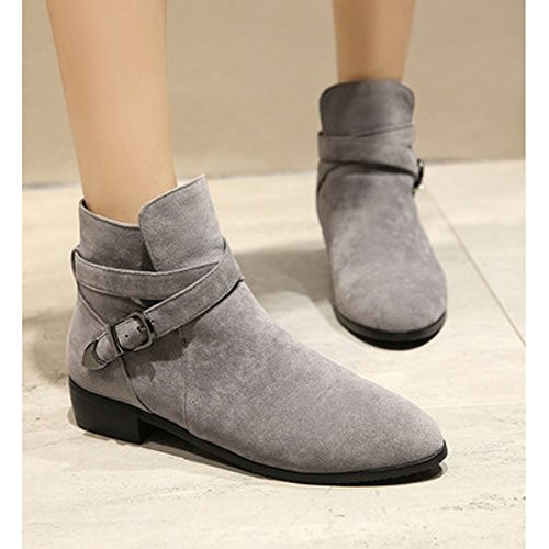 Donalworld Women Suede High Heel Martin Ankle Boot Pt2 aC2GzYGXdo