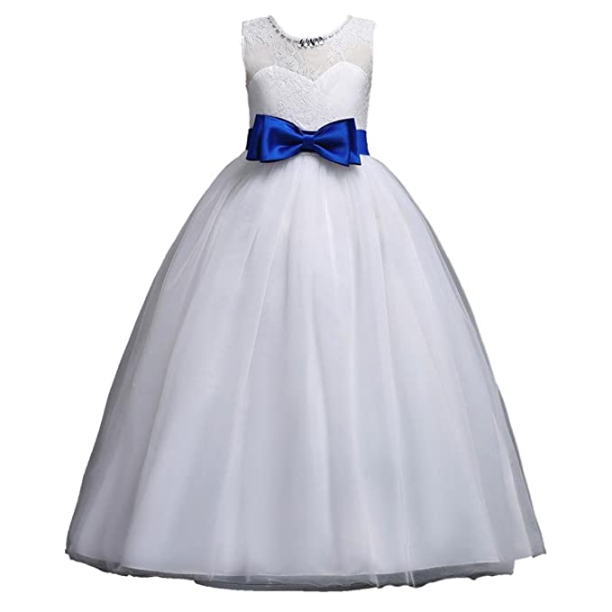 Elevin(TM) Pageant Party Wedding Dress Flower Girl Kid Lace Princess  Evening Ball Gown f73bf90a9426
