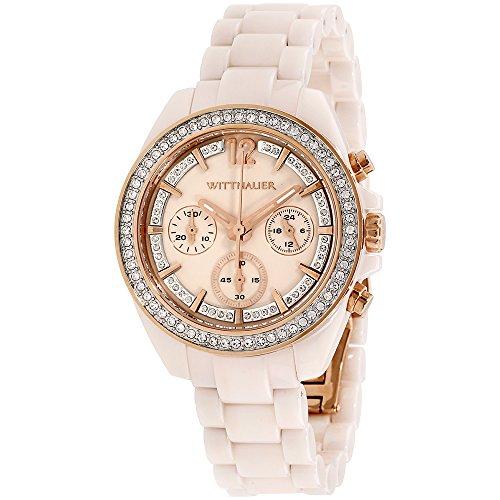 Wittnauer Womens WN4072 16mm Ceramic Pink Watch Bracelet