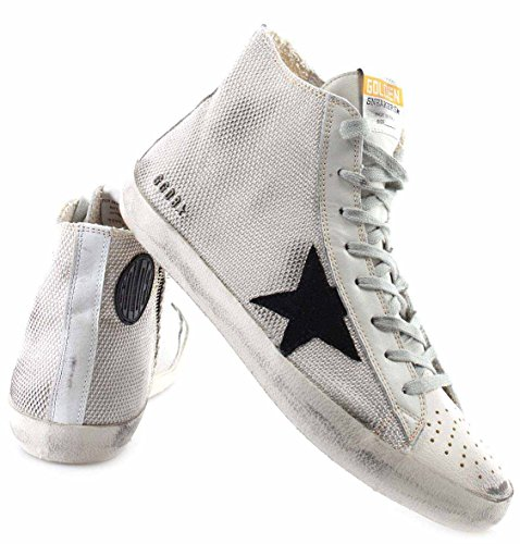 Golden Goose Scarpe Sneakers Uomo Francy G29MS591G16 Grey Cord Gum Italy Nuove