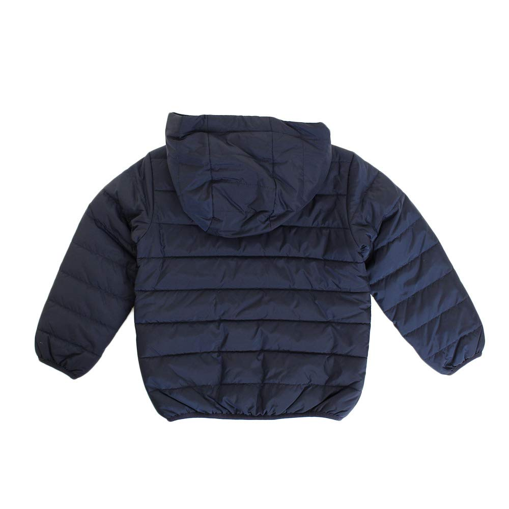 Nike Kids Boy's Quilted Jacket (Little Kids) Obsidian/University Red 4 US Little Kid by Nike (Image #2)