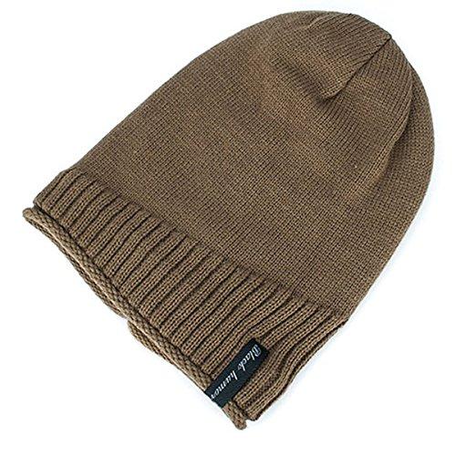 marea punto Marca caliente de Gorro Mantener libre Caqui de Hedging ligera Invierno hombres para larga coreana Tejido pelusa lana al de Versión la Sombrero aire Version Plus nT60XtxY0q