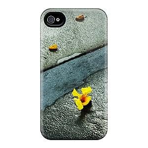 Hot Design Premium Cln4043pZnu Tpu Case Cover Iphone 4/4s Protection Case(remains Lost Flowers)