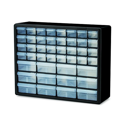 Akro-Mils 10144 Plastic Storage Cabinet 44 Drawer 20 x 15-7/8 x 6-3/8, Black electronic consumers