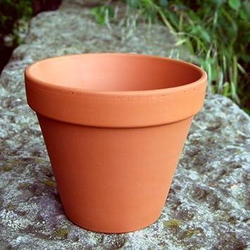 Small terracotta plant pots pack of 10 132mm diameter x 117mm